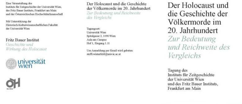 Der Holocaust und die Geschichte der Völkermorde im 20. Jhd.