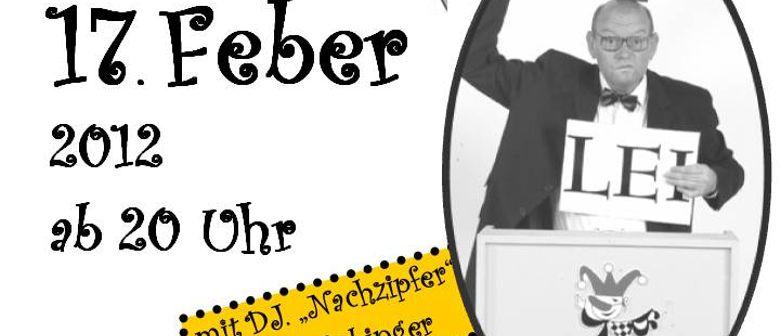 "Hausball mit Lei-Lei Star ""Nachzipfer DJ. Hannes Höbinger"