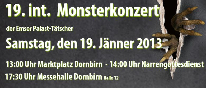 19. int. Monsterkonzert der Emser Palast-Tätscher