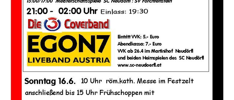 Zeltfest  90 Jahre SC Neudörfl vom 14.-16.6.2013