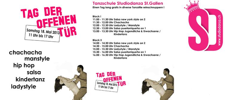 studiodanza - Tag der offenen Tür (Salsa, Hip Hop, Cha Cha)