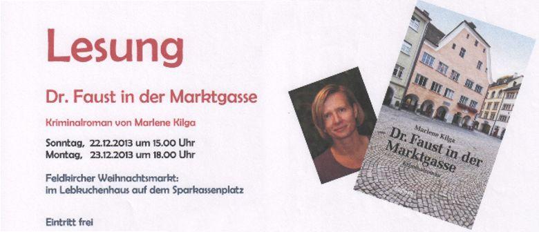 """Lesung  """"Dr. Faust in der Marktgasse"""""""
