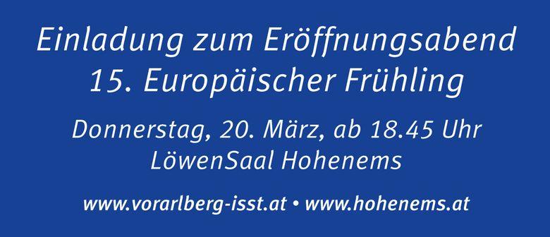 Eröffnungsabend 15. Europäischer Frühling