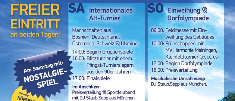 Sportplatz Neueröffnung 28./29. Juni