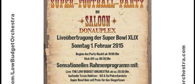 The LOW BUDGET ORCHESTRA - Live at the Superbowlparty Saloon