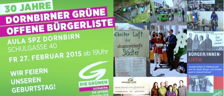30 Jahre Dornbirner Grüne - Die offene Bürgerliste