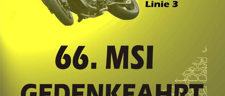 66. MSI-Motorradgedenkfahrt durch Innsbruck