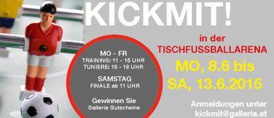 KickMit: Galleria Landstraße lädt zur Tischfußball-Arena