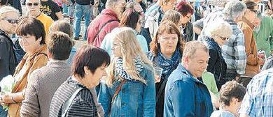 Freigelände-Flohmarkt des Cashpoint SCR Altach