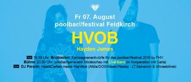 Poolbar 2015 / FM4 Wochenende: Hvob + Hayden James