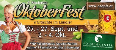 5. Bludenzer OktoberFest beim Fohren Center an 2 WE