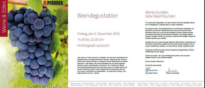 Genuss & Tradition Weinverkostung