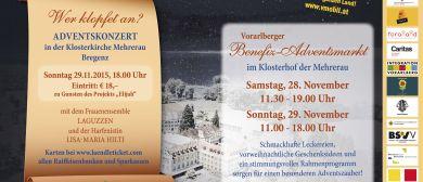 Vorarlberger BENEFIZ-ADVENTSMARKT in der Mehrerau