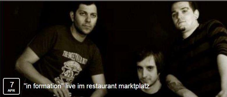 """""""In Formation"""" live im Restaurant am Marktplatz"""