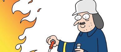 Die homöopathische Feuerwehr & andere Cartoons