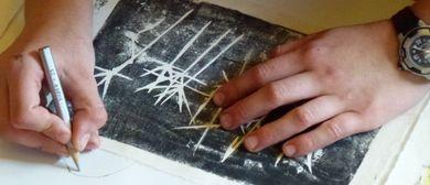 KinderKunstKurs: Druckwerkstatt, Pflanzenwesen, Malen