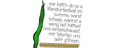 """""""Hülsenfrüchte und Knallschoten"""" Literatur-Fest"""
