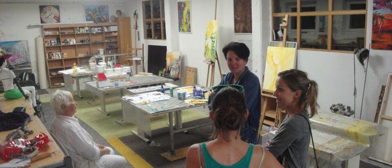 Acrylmalen im Kunst-Atelier