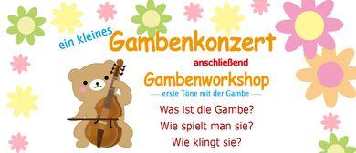 Ein kleines Gambenkonzert und Gambenworkshop