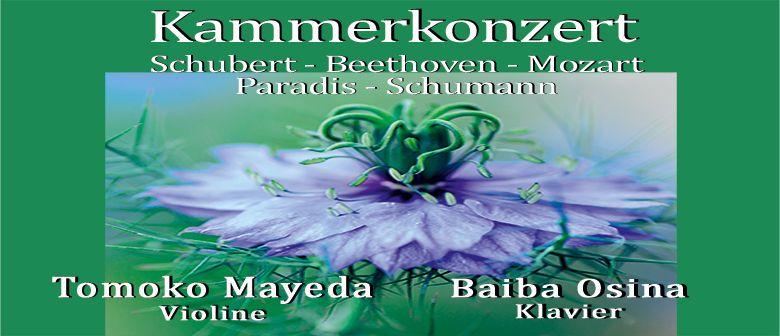 Schubert-Beethoven-Mozart-Paradis-Schumann Kammerkonzert