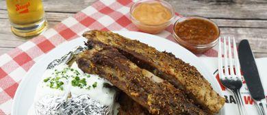 Ripperl-Essen in der Stiegl-Brauwelt