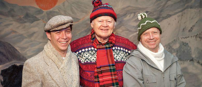 Drei Männer im Schnee: SOLD OUT