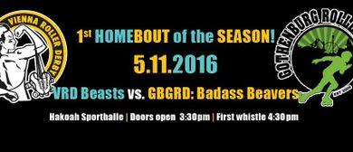 1.Heimspiel im Herbst: Vienna Roller Derby Beasts vs GBGRD B