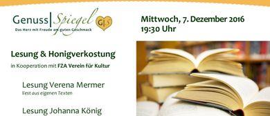 Lesung & Honigverkostung im Kunst-Café Genuss-Spiegel Wien