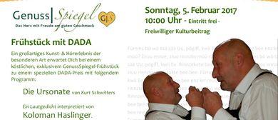 Frühstück mit DADA im Kleinkunstcafé Genuss-Spiegel in Wien