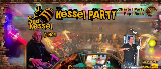 Kessel Party mit DJ Wori im Fohren Center Sudkessel Bar