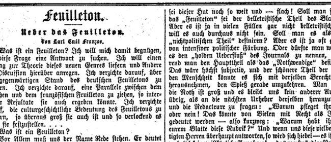 Unterm Strich. Über Feuilletons und andere kleine Formen ...