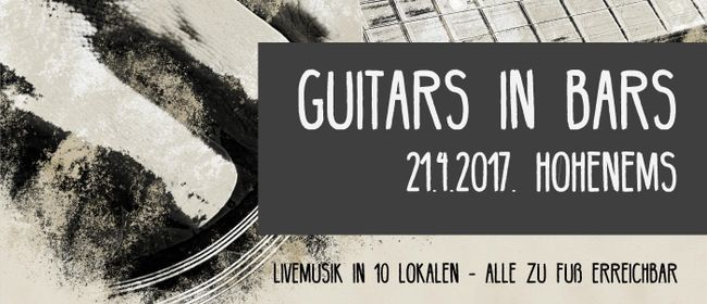"""Guitars in Bars"" in Hohenems"