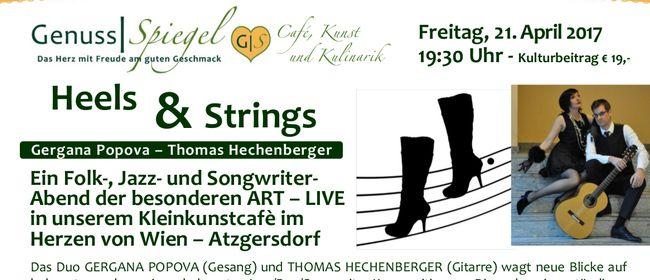 HEELS AND STRINGS – LIVE – im Kleinkunst-Café Genuss-Spiegel