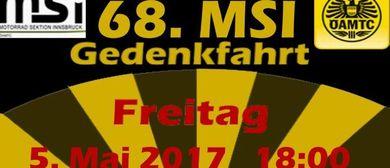 68. MSI - Motorradgedenkfahrt durch Innsbruck