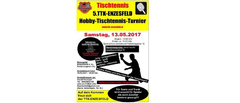 5. TTK-Enzesfeld Hobby-Tischtennis-Turnier 2017