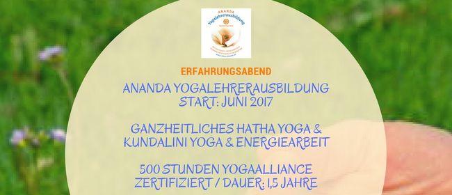 Erfahrungsabend: ANANDA Yogalehrerausbildung Juni 2017
