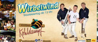 Wirbelwind live im Gastgarten Kohldampf Fohren Center