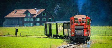 Fahrplanzüge mit Diesellok - Bregenzerwaldbahn-Museumsbahn