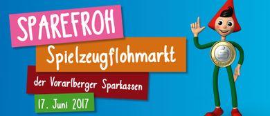 Sparefroh Spielzeugflohmarkt der Vorarlberger Sparkassen