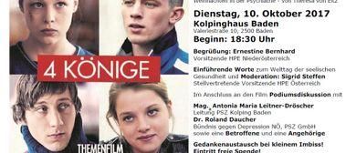 """Film """"4 Könige"""" anlässlich Welttage """"seelischen Gesundheit"""""""