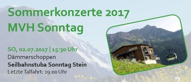 Dämmerschoppen MVH Sonntag |  Seilbahnstuba Sonntag Stein