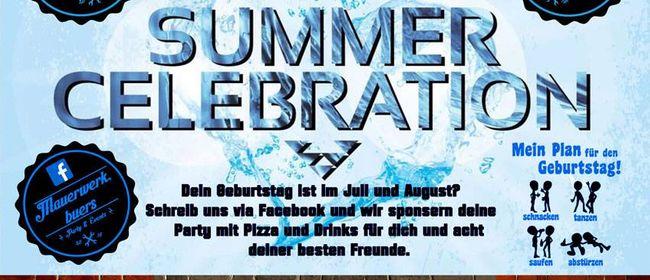 SUMMER CELEBRATION 18+ im MAUERWERK BÜRS
