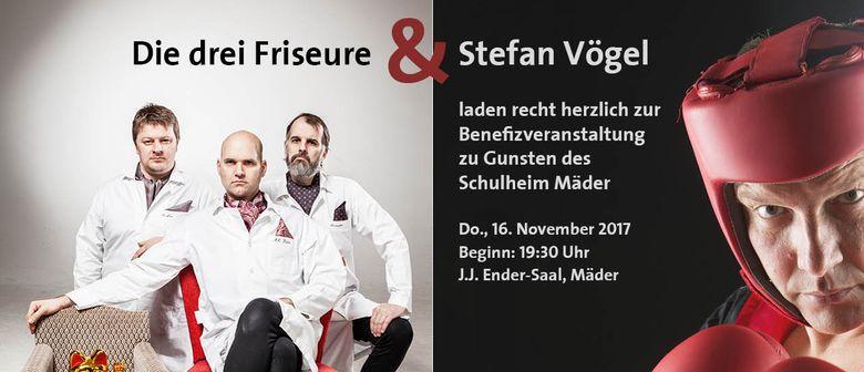 """Benefiz-Kabarett mit Stefan Vögel und """"Die drei Friseure"""""""