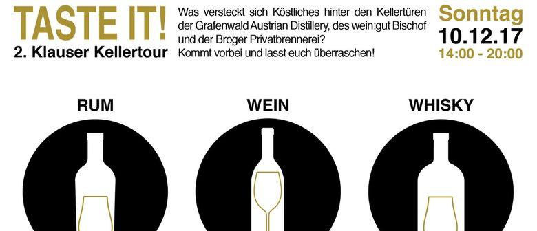 Taste it! 2. Klauser Kellertour
