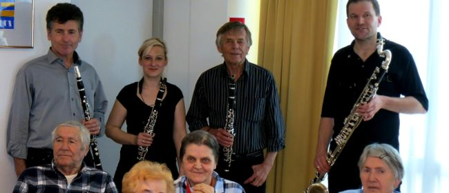 Kursana lädt zu Konzert des Urfahraner Klarinettenquartetts
