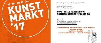 VERNISSAGE: KUNSTMARKT IN DER KUNSTHALLE RAVENSBURG