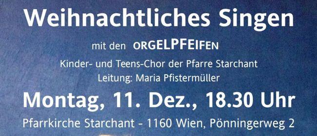 Weihnachtliches Singen mit den Orgelpfeifen