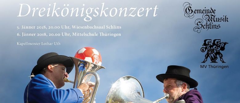 Dreikönigskonzert des MV Thüringen und der GM Schlins