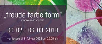 Vernissage Monika Maria Weiss - Freude Farbe Form