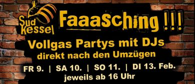 Faschingspartys im Fohren Center - Sudkessel & neuer Saal